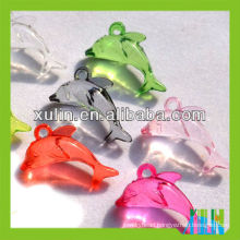 wholesale transparent mixed color acrylic dolphin pendants ornaments