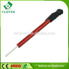 Hecho del aluminio y del coche plástico usando el calibrador de presión del neumático del tipo del lápiz