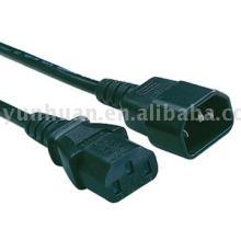 Cable de alimentación con entrada salida IEC60320 C13 C14 C5 c19