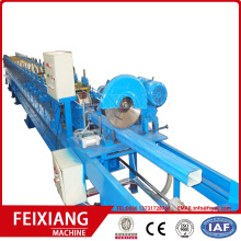 Rain gutter downspout pipe roll forming machine