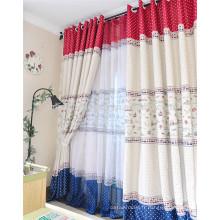100% polyester rideau de douche en tissu salon rideau de fenêtre