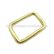 Fashion High Quality Metal Brass Plated Rectangular Ring