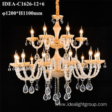 designer hotel chandelier candle glass lighting