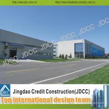 Bâtiment moderne d'atelier de structure en acier galvanisé de conception moderne