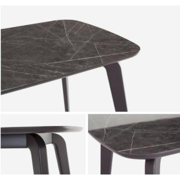 Marble Top Dining Table with Solid Beech Legs