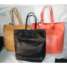 Guangzhou Supplier Wholesale Genuine Leather Women Shopping Handbag (201)