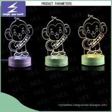 220V LED 3D Night Light as Gift for Friends