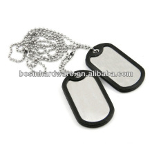 Fashion High Quality Metal Stainless Steel Dog Tag Ball Chain Necklace