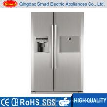 110 V 60Hz lado a lado casa sem geladeira de aço inoxidável de geada
