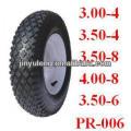"Pneumatic Rubber wheelbarrow tyre 10""x3.50-4"