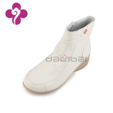 hospital medical center nurse shoes ladies winter white leather boots