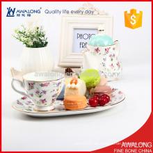Europäischer Stil Keramik Kaffee Tee-Set mit Löffel