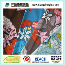 100% Polyester Micro Peach Twill Fabric with Printed