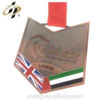 Medalla de aleación de zinc antiguo cobre personalizado BJJ Jiu-Jitsu del fabricante de China