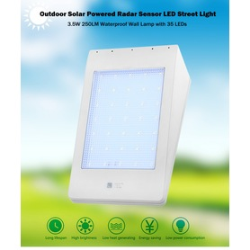 Utomhus Garden Solar Powered Radar Sensor Light