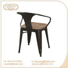 Cadeiras de triunfo com assento de madeira / Marais poltrona de jantar de metal / Pó Revestido cadeira Marai Café