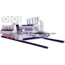 Máquina de impressão e entalhe de cartão de alta velocidade