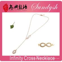 Unendlichkeits-Halsketten-goldene Querschmuck-Halskette Unendlichkeitssymbol-Halsketten