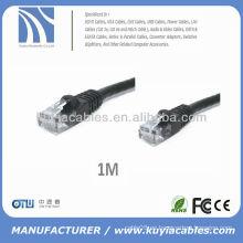 1m 3'Feet Negro CAT 6 CAT6 Gigabit 10/100/1000 Red Cat6 Cable de red Ethernet Cable Oem