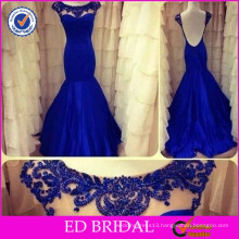 ED-YH2354 New Collection Sexy Low Back Beaded Cap Sleeve Evening Gowns