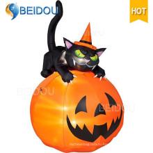 Надувной Хэллоуин украшения скелет надувной Хэллоуин черный кот