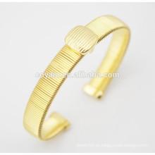 Los brazaletes del oro del acero inoxidable fijaron los brazaletes plateados del oro 18k