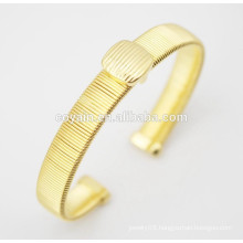 Stainless steel gold bangles set plated 18k gold bangles