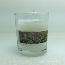 Fabrique la vela diversa de la taza de cristal del diseño elegante de la capa diversa del modelo