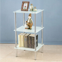 Corner Tempered Glass Stand Four Colors Available