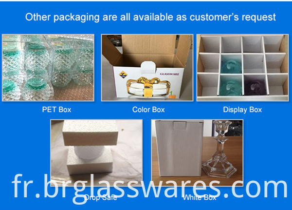 crystal wine glass other packing