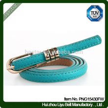 Hot Selling lady Thin Genuine Leather Belt