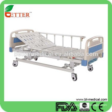 Hospital mechanical hospital bed with ABS Bedboard