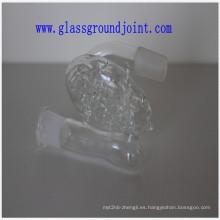 Pipa de agua vidrio borosilicato con juntas esmeriladas