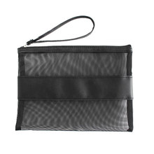 Plast PVC Mesh Zipper Dokument File Storage Bag