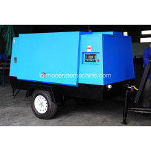 Electric Air Cooling Movable Screw Air Compressor
