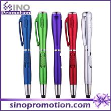 Caneta de plástico levou luz com tocha caneta promocional do presente (s1120)