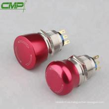 Interruptor de paro de emergencia de metal de 19mm 22mm de setas