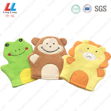 Animal massaging soft bath gloves