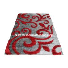 Tapis écorché moderne en polyester de haute qualité