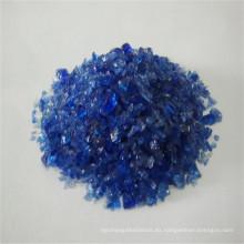 Vidrio templado triturado azul F