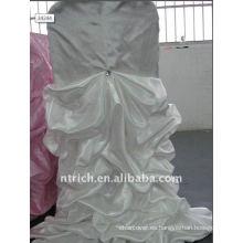 Cubierta de silla de raso de color blanco de lujo, tan fascinante, estilo de boda