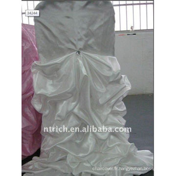 Luxe !!! couleur blanche housse de chaise de satin, si fascinante, style de mariage