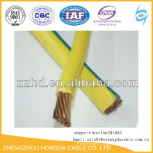 Class 2 type stranded copper conductor yellow/green ground cable