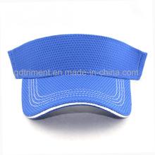 100% Polyester Tissu respirant Bonnet Visière Sun de Golf (TRNV096)