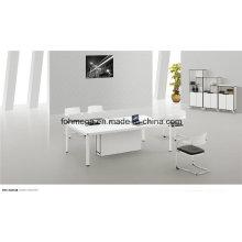 Mesa de reunión moderna de tamaño pequeño en blanco (FOH-2412B)