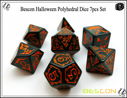 Bescon Halloween Polyhedral Dice 7pcs Set-3