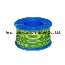 Grün / Gelb Farbe Elektrischer Draht 6mm2