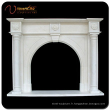 Cheminée de cheminée / cheminée de marbre en pierre naturelle faite sur commande