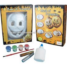 Masques de citrouille blanc d'Halloween gros / enfants masques de bande dessinée