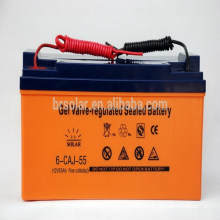Good Quality 12V 55AH Solar Rechargeable Battery